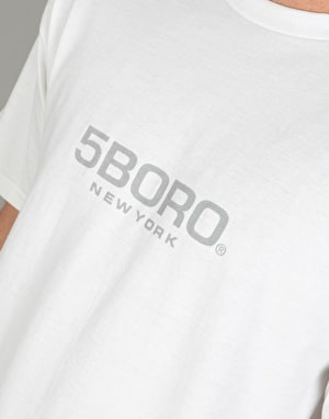 5Boro EXT Logo T-Shirt - White/Black