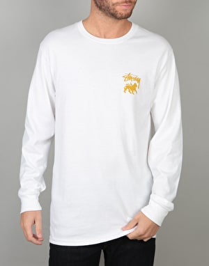 Stüssy Stock Lion L/S T-Shirt - White