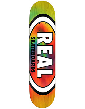 Real Oval Tie Dye Team Deck - 8.5