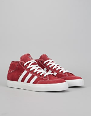 Adidas Matchcourt Mid MJ Skate Shoes - Mystery Red/White/Gold