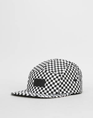 Vans Davis 5 Panel Cap - Black/White Checkerboard