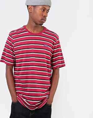 Nike SB Just Do It Stripe T-Shirt - White/Red Crush/Red Crush