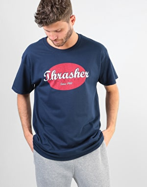Thrasher Oval T-Shirt - Navy