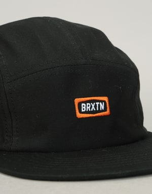 Brixton Rockford 5 Panel Cap - Black