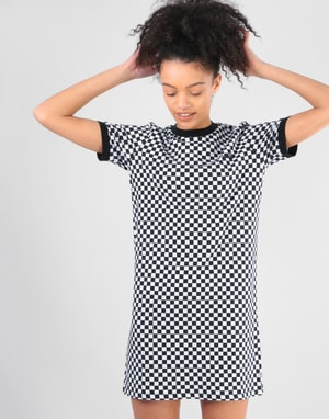Vans Womens High Roller Print Dress - Checkerboard