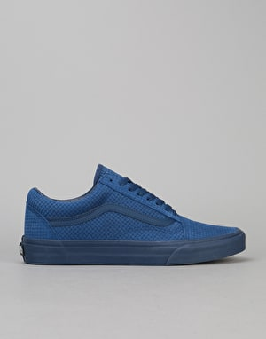 Vans Old Skool Skate Shoes - (Emboss Suede Pack) Estate Blue