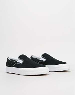 Converse One Star CC Slip Skate Shoes - Black/White/White