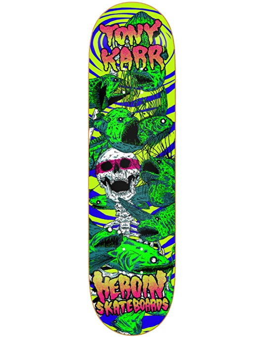 Heroin Karr Hirotton Vicious Nature Skateboard Deck - 8.38""