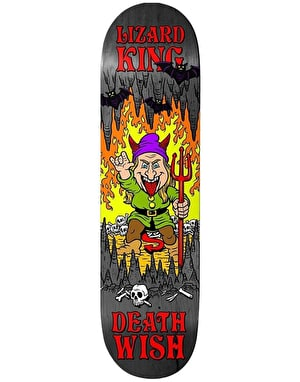 Deathwish Lizard King Happy Place Skateboard Deck - 7.875