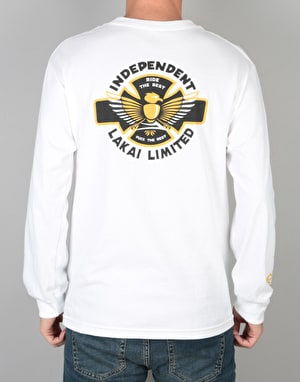 Lakai x Independent L/S T-Shirt - White