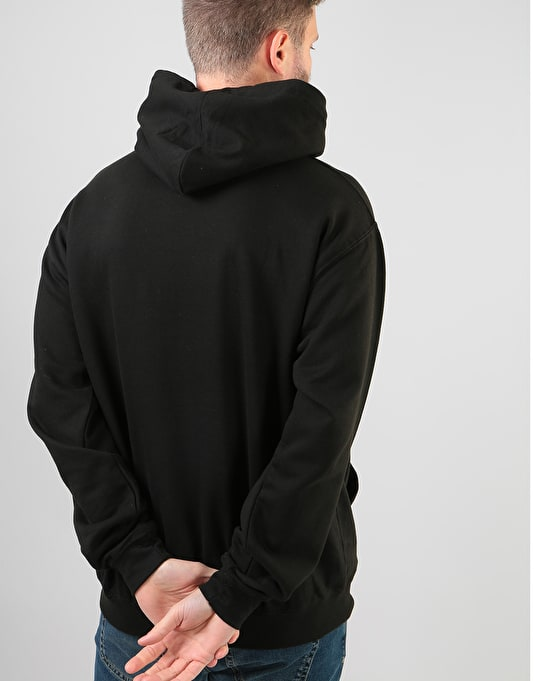 The Story Collective Crown Embroidered Pullover Hoodie - Black