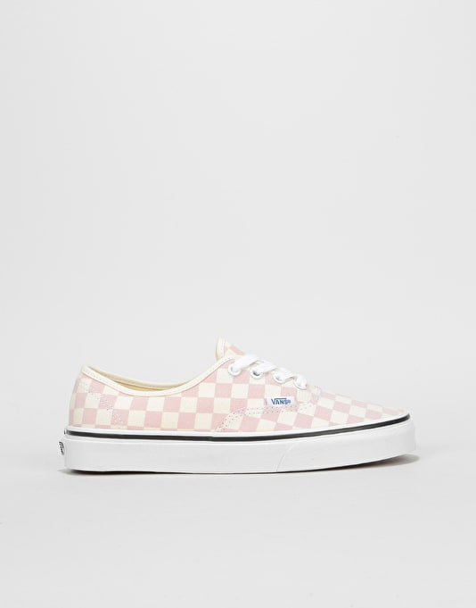 Vans Authentic Womens Trainers - (Checkerboard) Chalk Pink White ... f7cd48ba6