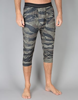 Burton Midweight Shant Thermal Bottoms - Olive Green Worn Tiger