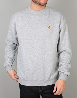 Pizza Emoji Crewneck Sweat - Heather Grey