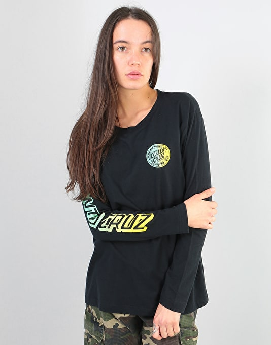 Santa Cruz MFG Fade L/S Womens T-Shirt - Black