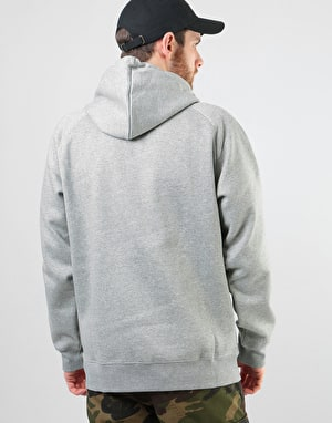 Carhartt Hooded Chase Sweatshirt - Grey Heather/Gold