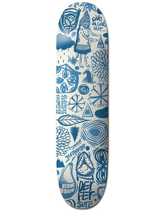 Element x Thomas Campbell Everything Indigo Collection Skate Deck - 8""