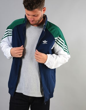 Adidas Lightweight Full Zip Track Top - Night Indigo/Green/White