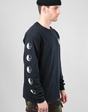 RIPNDIP Nermal Yin Yang R1 UK Exclusive L/S T-Shirt - Black