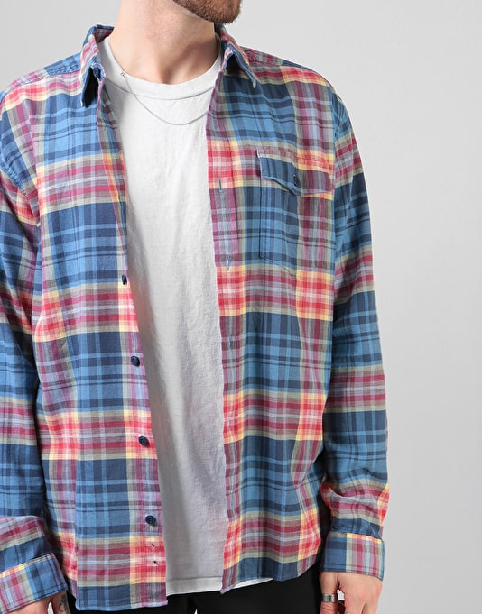Patagonia L/S Lightweight Fjord Flannel Shirt - Rootsy: Railroad Blue
