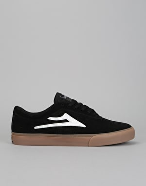 Lakai Sheffield Skate Shoes - Black/White Suede