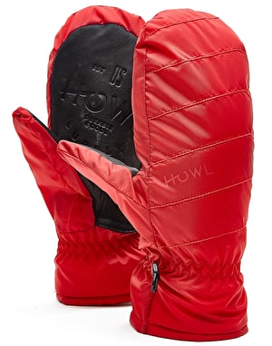 Howl Daily 2018 Snowboard Mitts - Red