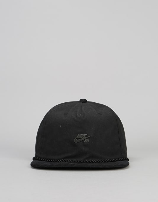 Nike SB Waxed Canvas Pro Snapback Cap - Black/Black/Cool Grey