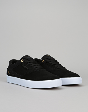 Emerica Empire G6 Low Vulc Skate Shoes - Black/White