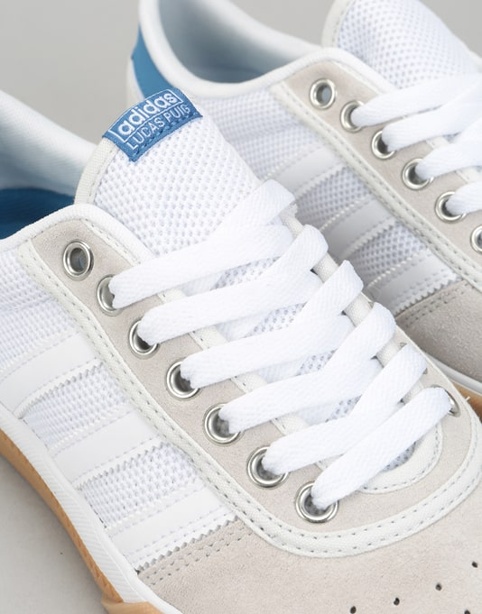 Adidas Lucas Premiere Skate Shoes - White/Trace Royal/Gum