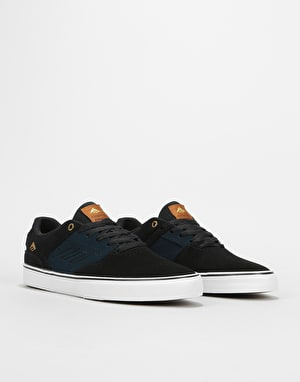 Emerica Reynolds Low Vulc Skate Shoes - Black/Navy