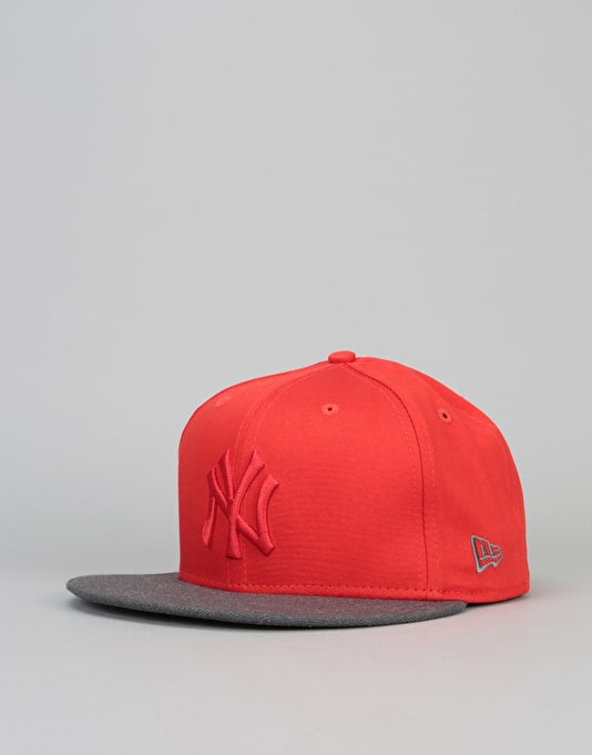 sports shoes 518c0 4d691 New Era 9Fifty New York Yankees Pop Snapback Cap - Heather Red   New Era  Caps   Snapbacks, Fitted   Dad Hats   Accessories   Route One