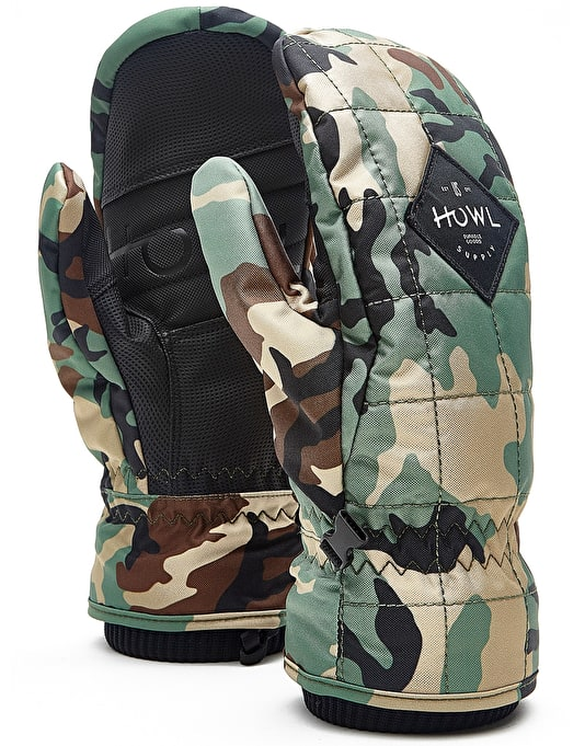 Howl Jed 2018 Snowboard Mitts - Camo