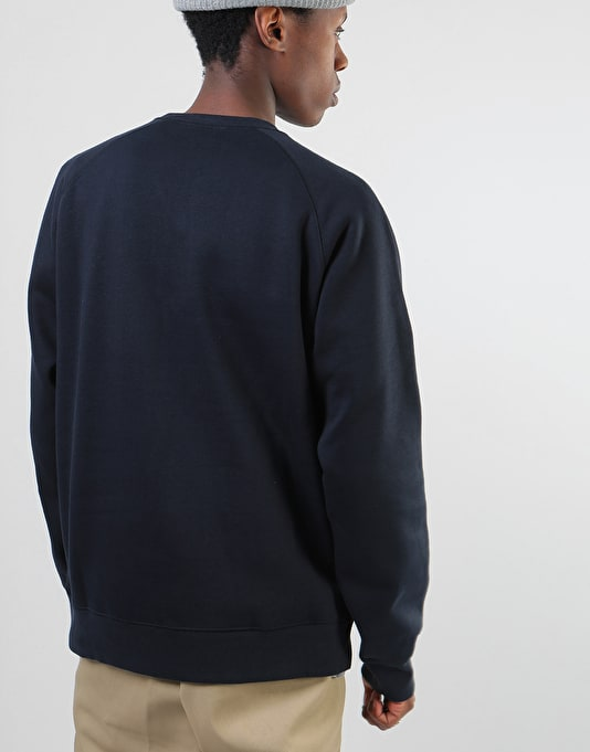 Carhartt Chase Sweatshirt - Dark Navy/Gold