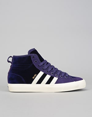 Adidas Matchcourt High RX Skate Shoes - Dark Purple/Cream White/Gold