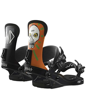 Union D.W.D Custom House 2018 Snowboard Bindings - Dino