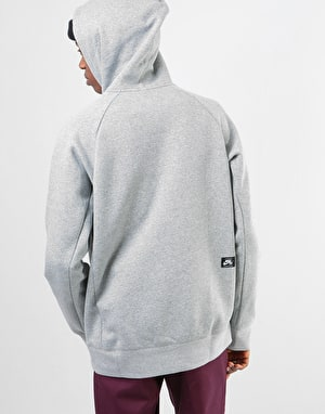 Nike SB Icon GFX Pullover Hoodie - Dk Grey Heather/White