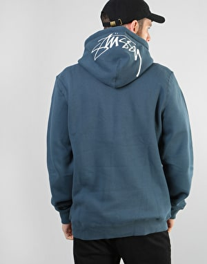 Stüssy Smooth Stock Applique Pullover Hoodie - Ink