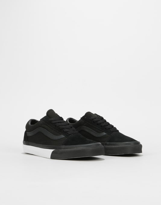 Vans Old Skool Womens Trainers - (Mono Bumper) Black/True White