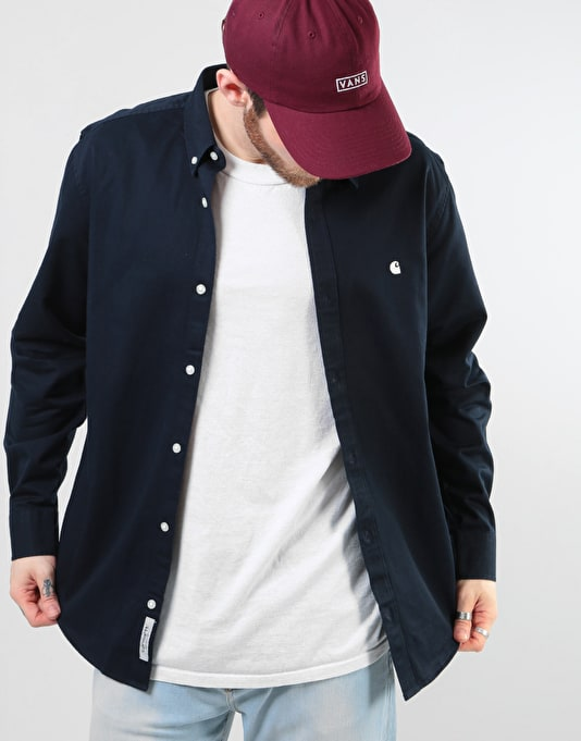 Carhartt L/S Madison Shirt - Dark Navy/Wax