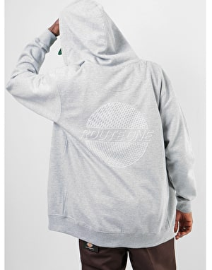 Original Trippin Zip Hoodie - Heather Grey