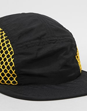 Butter Goods 5 Panel Camp Cap - Black/Yellow