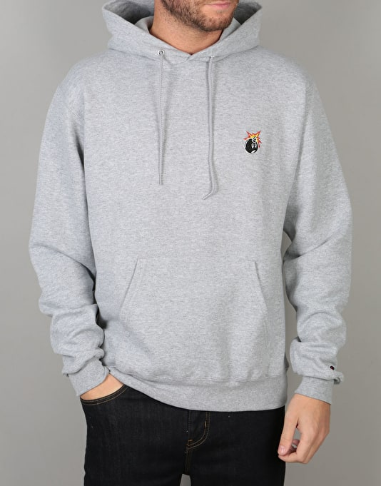 The Hundreds x Champion Crest Adam Pullover Hoodie - Athletic Heather