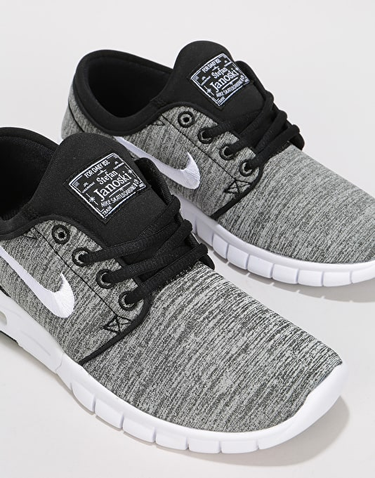 Nike SB Stefan Janoski Max Boys Skate Shoes - Black/White