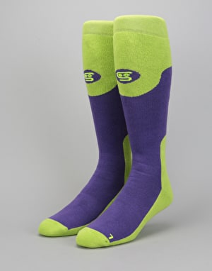 Stinky Purple Haze LW 2018 Snowboard Socks - Purple/Green