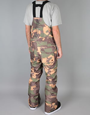 ThirtyTwo Basement Bib 2018 Snowboard Pants - Camo