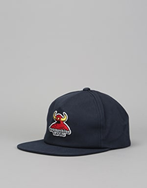 RVCA x Toy Machine Snapback Cap - Navy