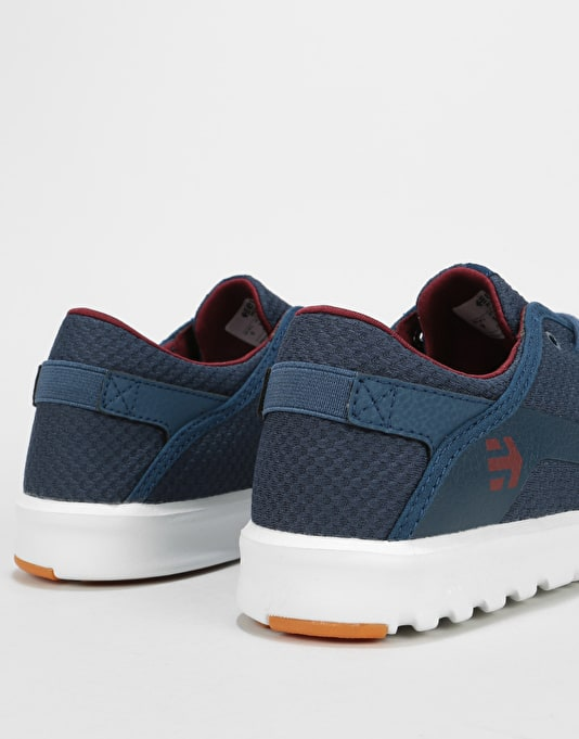 Etnies Scout Skate Shoes - Navy/Red