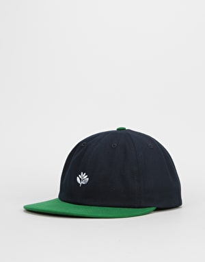 Magenta 6 Panel Cap - Navy/Green