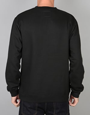 The Quiet Life Shhh Wavey Crewneck - Black
