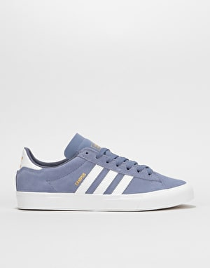 Adidas Campus Vulc II Skate Shoes - Raw Indigo/White/Raw Indigo